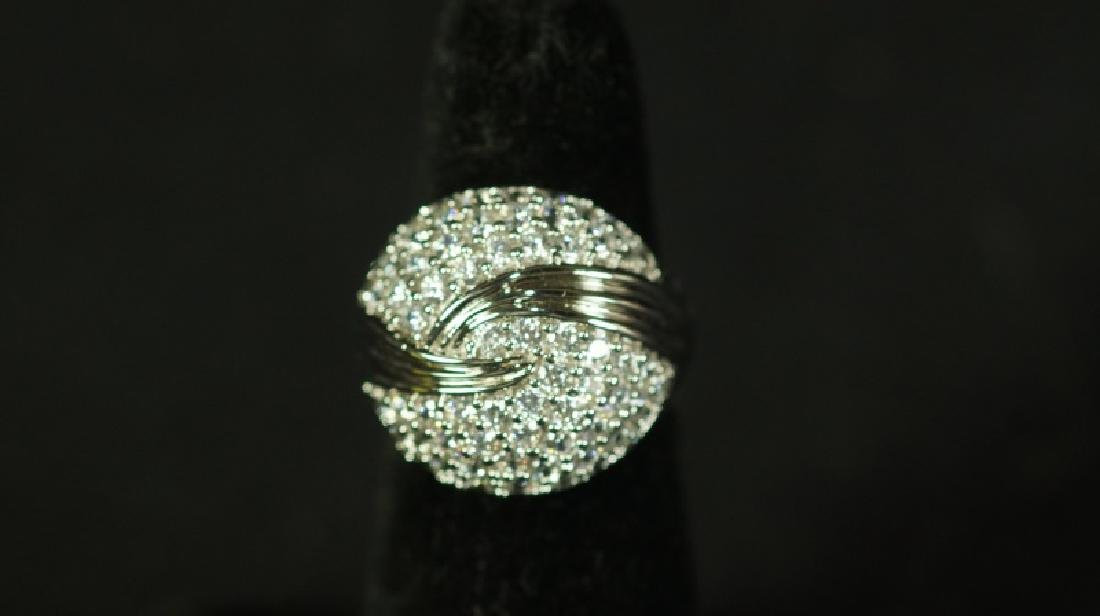 (27) 3.06 Ct. WHITE SAPPHIRE PAVE RING