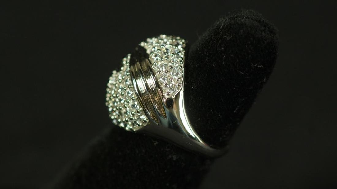 (27) 3.06 Ct. WHITE SAPPHIRE PAVE RING - 2