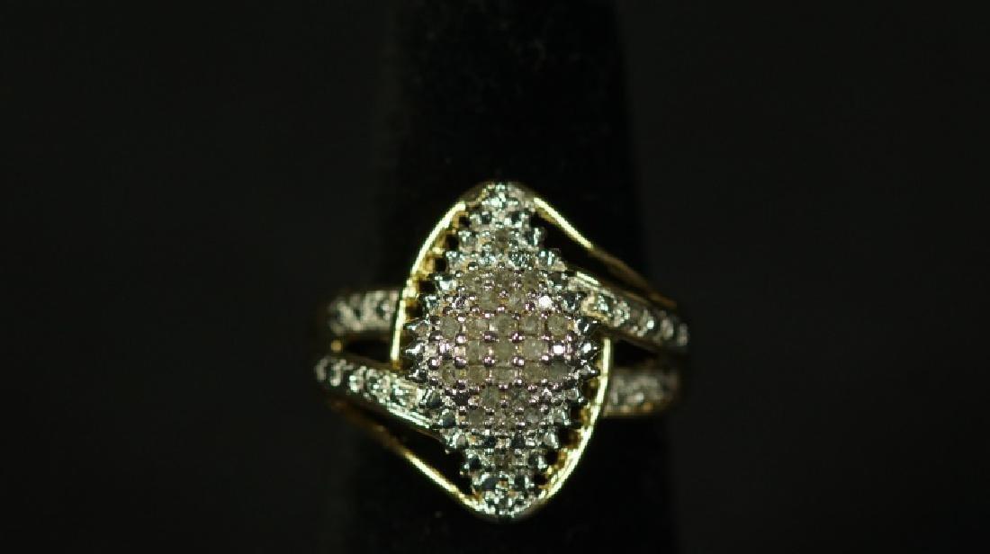 (31) MARQUE DIAMOND CLUSTER RING