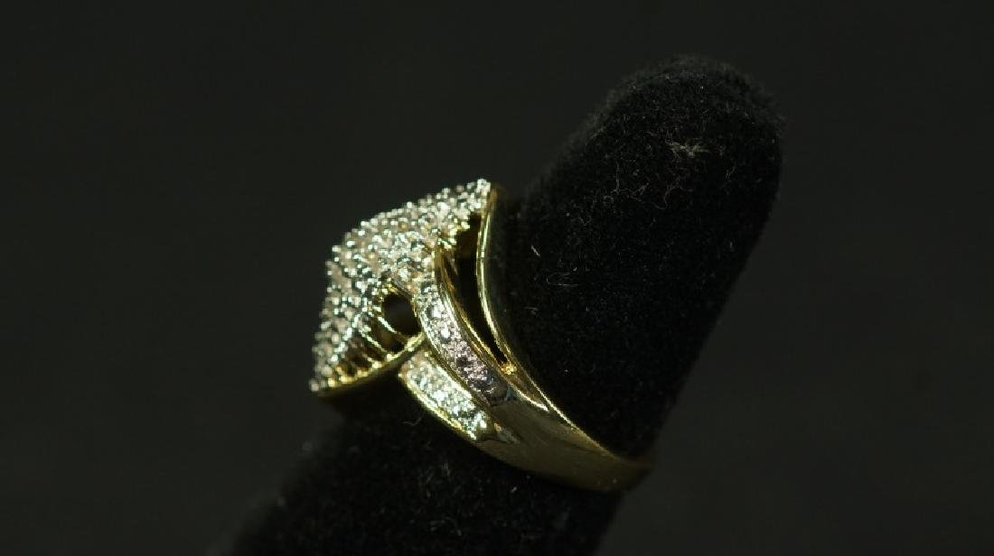 (31) MARQUE DIAMOND CLUSTER RING - 2