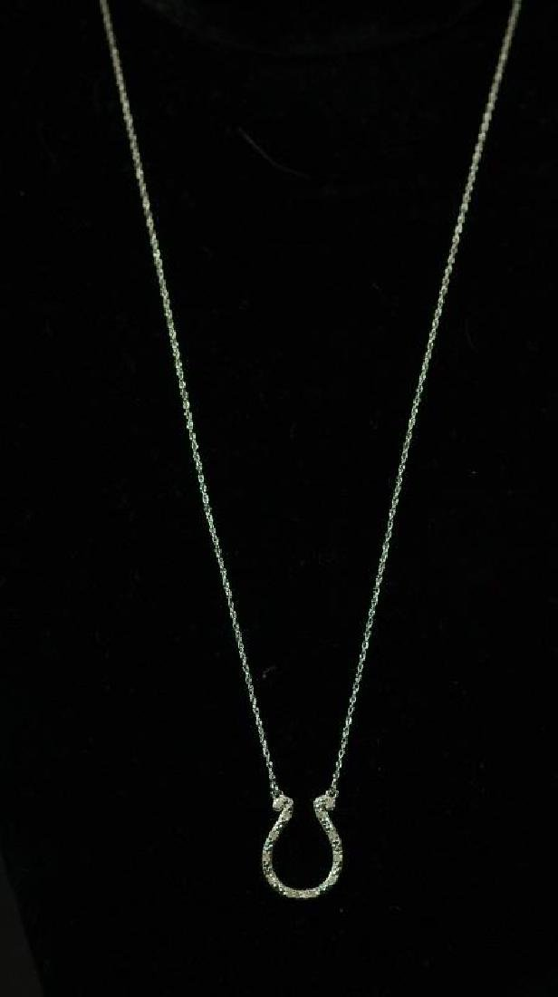 (37) DIAMOND HORSESHOE NECKLACE
