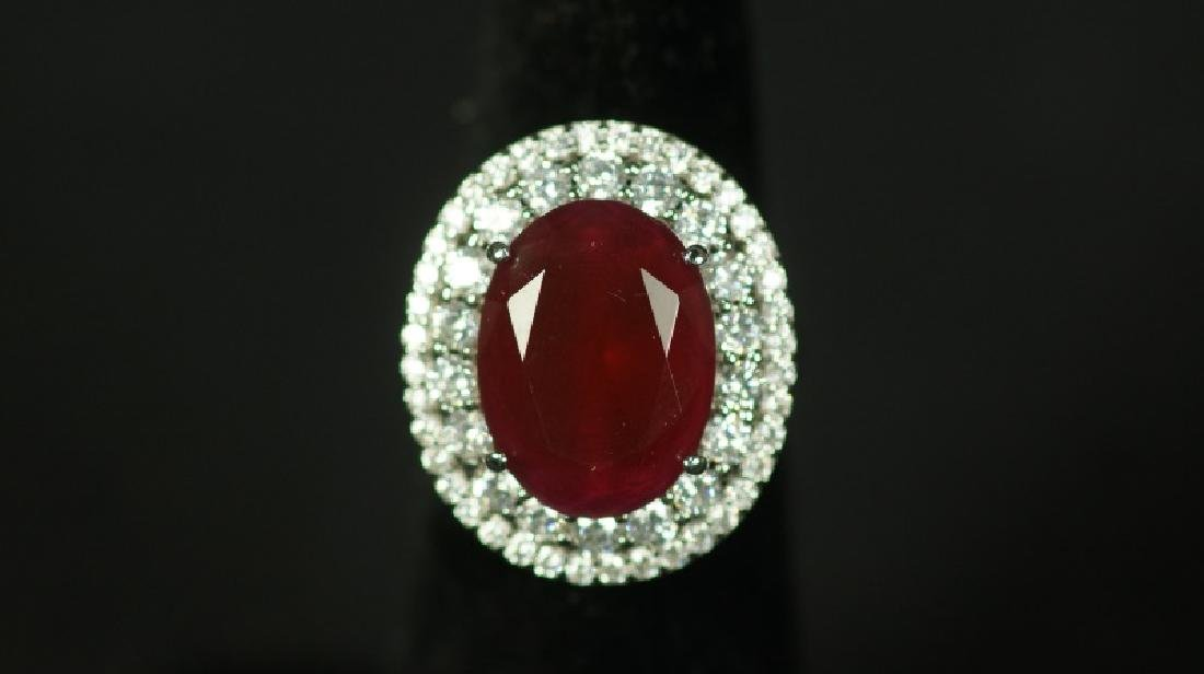 (38) 8.12 Ct. RUBY ESTATE RING