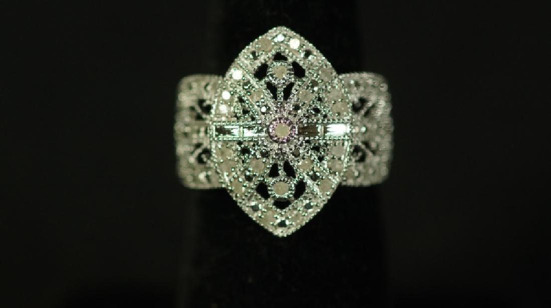 (39) LARGE DIAMOND CLUSTER RING