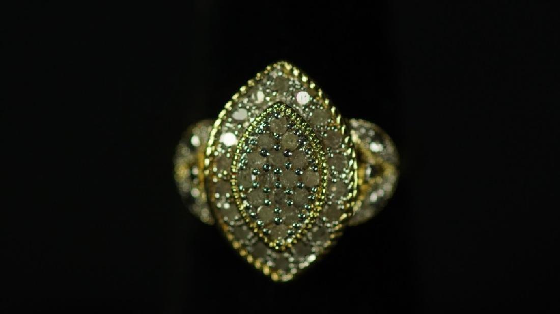 (46) LARGE DIAMOND CLUSTER RING