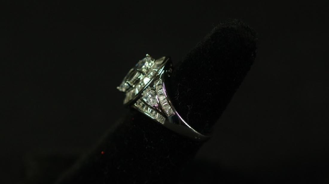 (47) 4.24 Ct. MARQUISE WHITE SAPPHIRE RING - 2