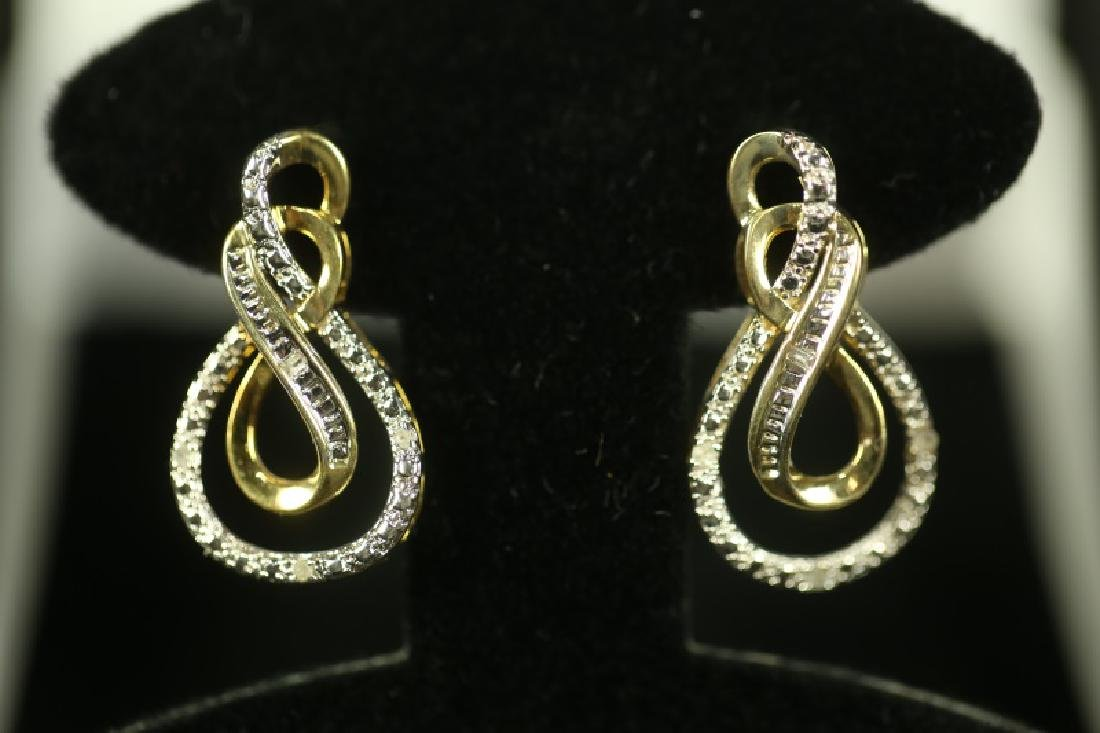 (49) DIAMOND ESTATE EARRINGS - 2