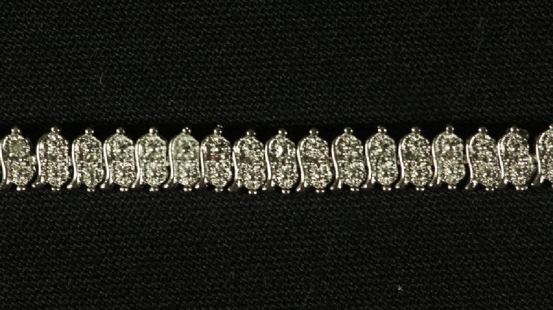 (51) LARGE DIAMOND TENNIS BRACELET - 2