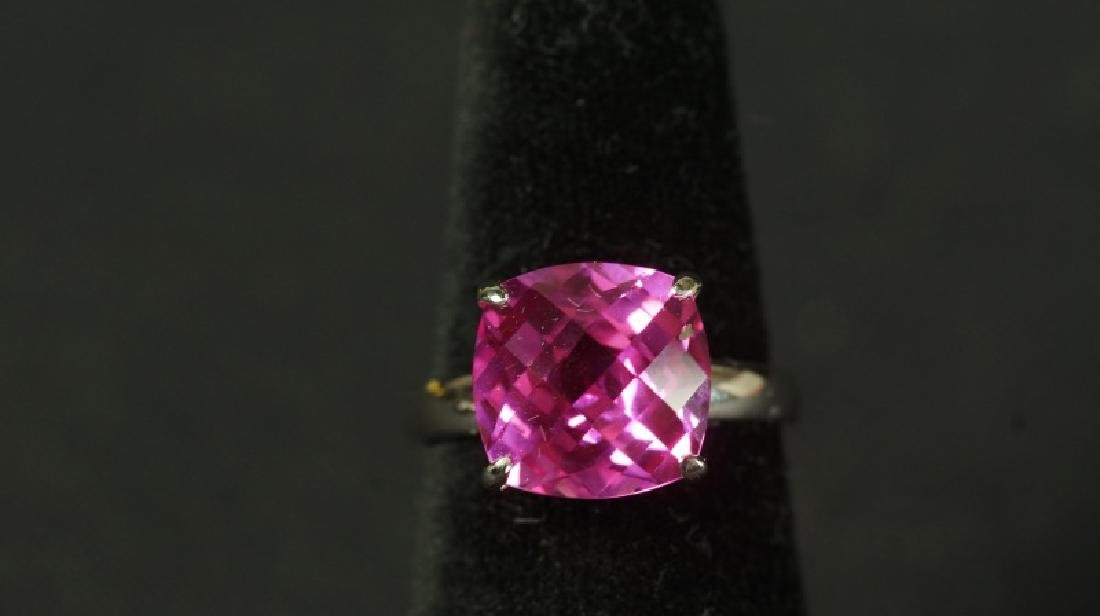 (52) 4 Ct. PINK SAPPHIRE DINNER RING - 2