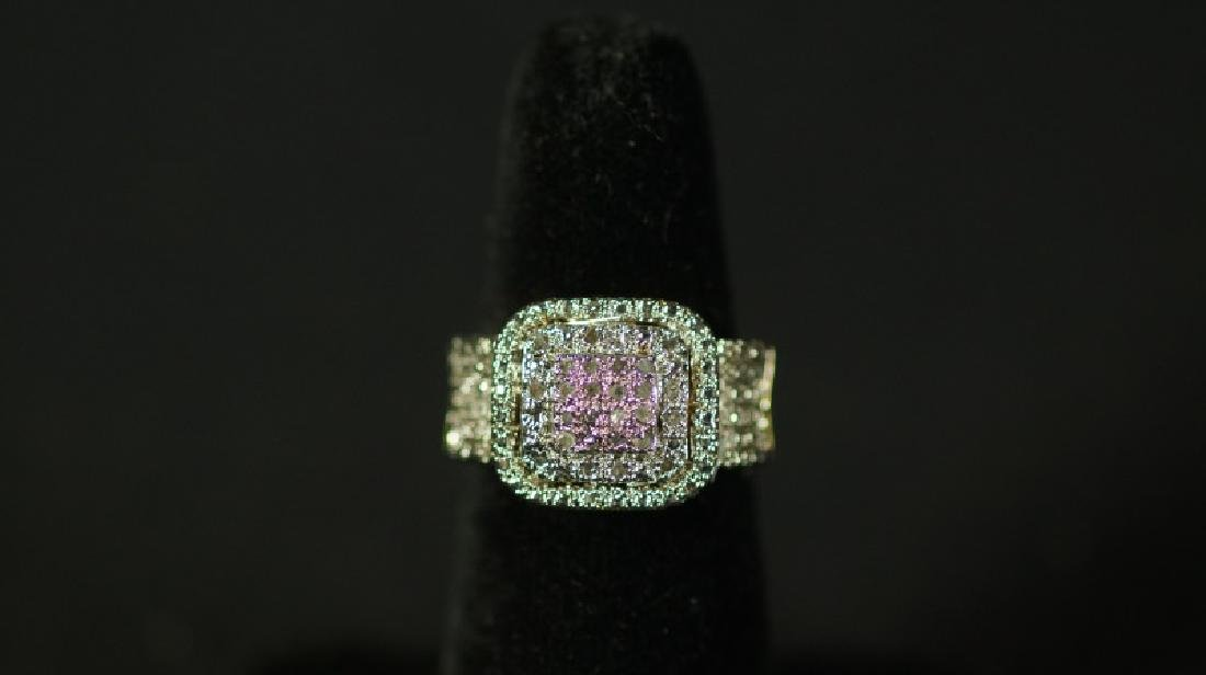 (53) LARGE DIAMOND CLUSTER RING