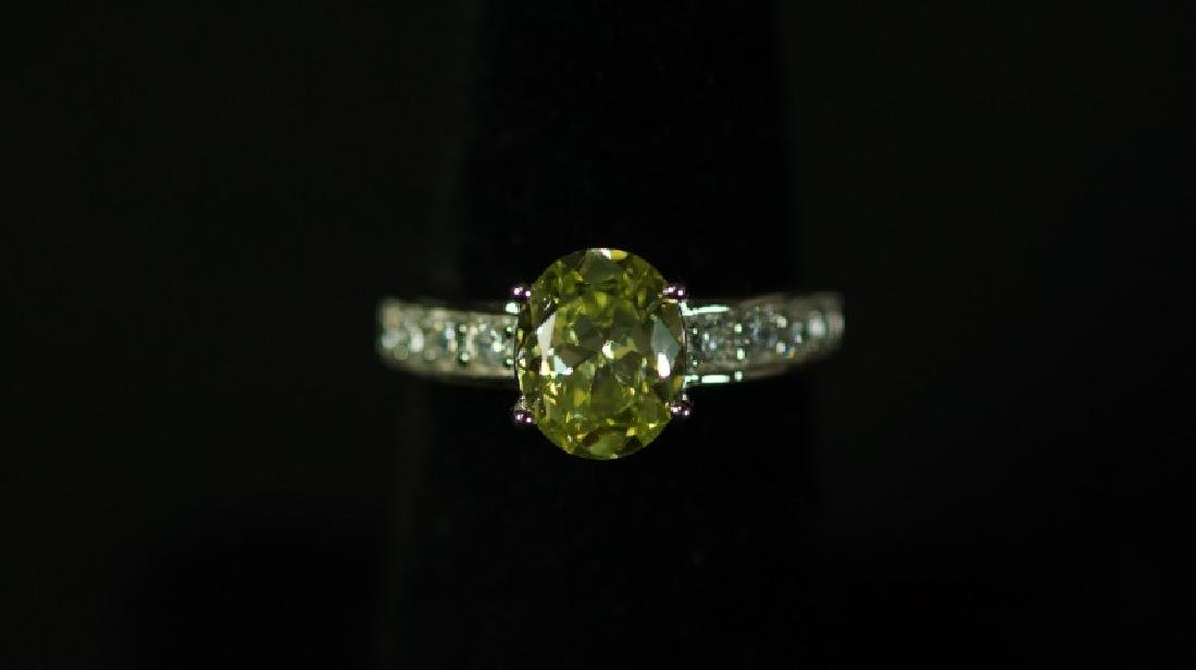 (55) 3.32 Ct. CANARY YELLOW SAPPHIRE SOLITAIRE RIN - 2