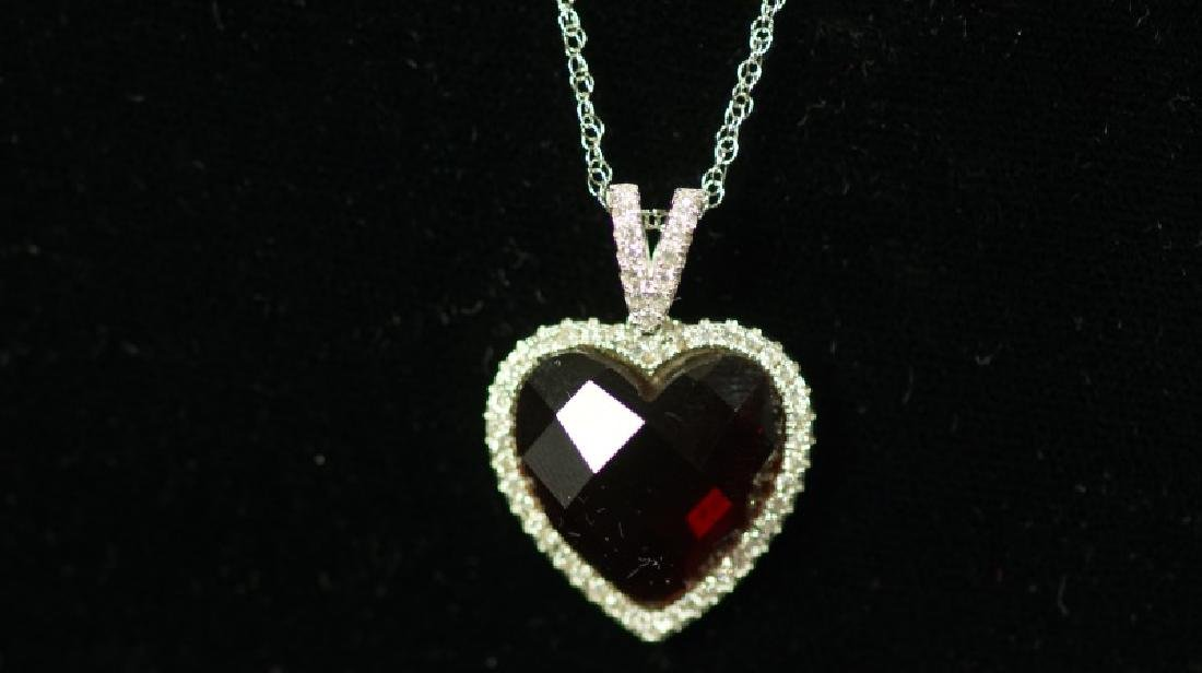 (56) 4.0 Ct. RUBY SWEETHEART NECKLACE - 2