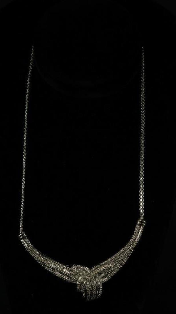 (57) LARGE ROLEX STYLE DIAMOND NECKLACE