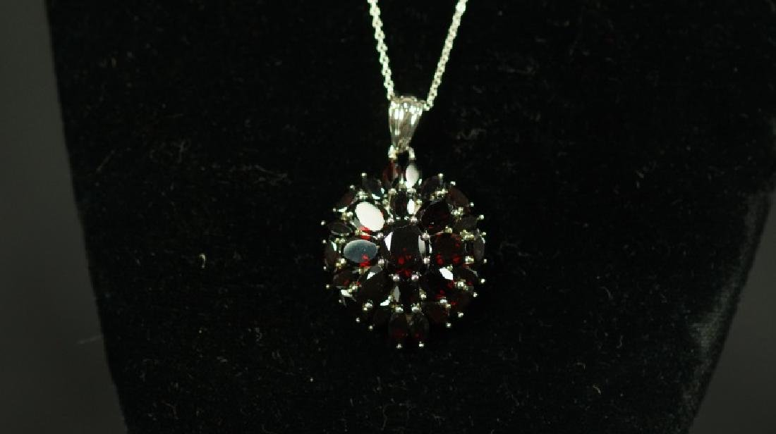 (60) 12.26 Ct. GENUINE GARNET NECKLACE - 2