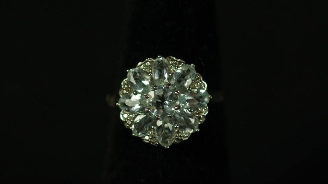 (64) 2.98 Ct. AQUAMARINE ESTATE RING