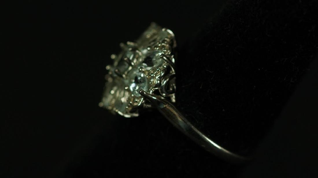 (64) 2.98 Ct. AQUAMARINE ESTATE RING - 2