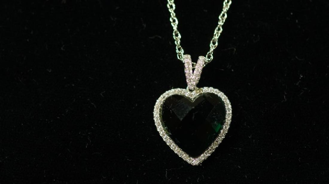 (71) 4.0 Ct. EMERAL SWEETHEART NECKLACE - 2