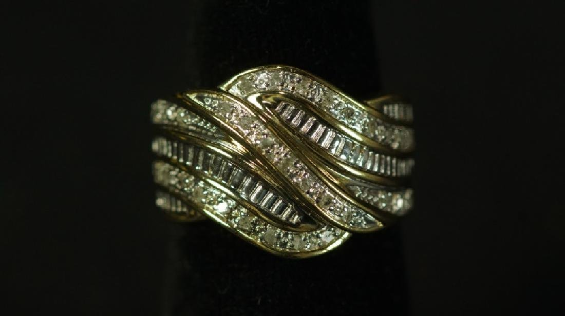 (76) LARGE DIAMOND DINNER RING