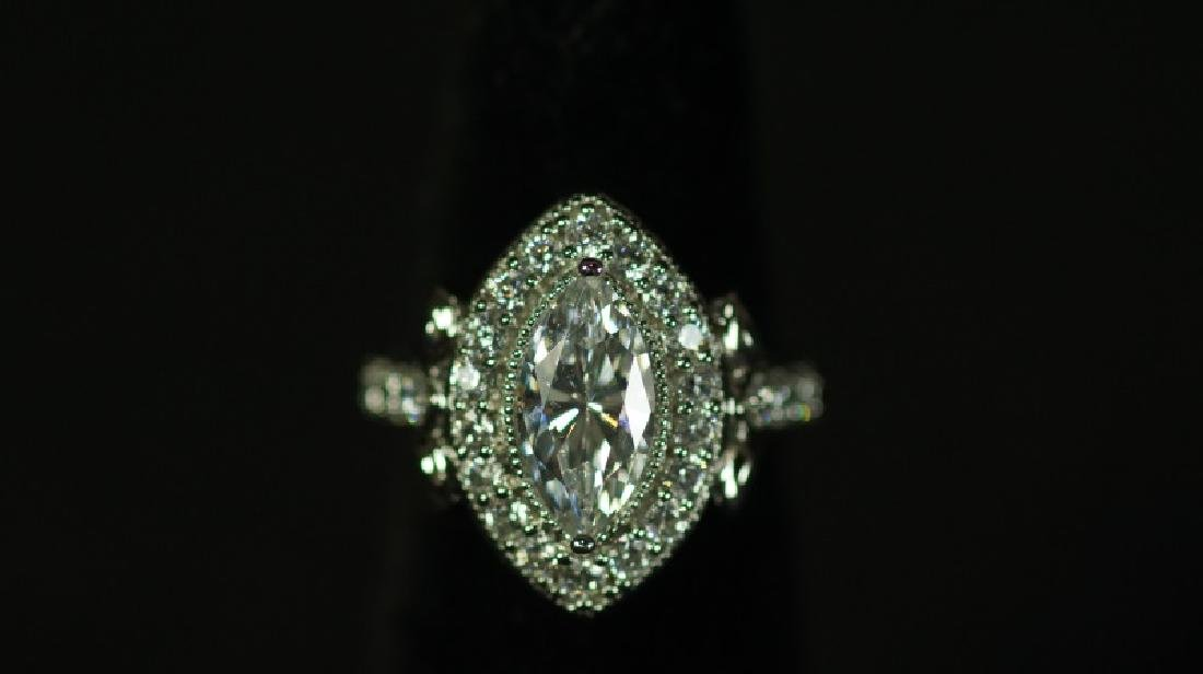 (77) 3.98 Ct. MARQUE WHITE SAPPHIRE RING