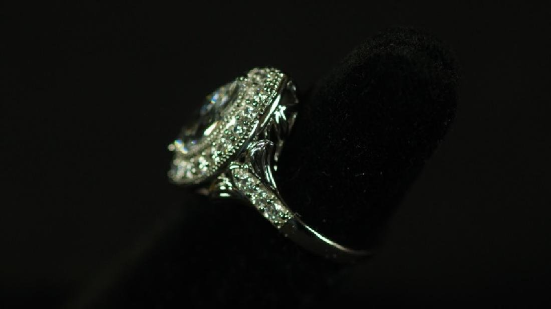 (77) 3.98 Ct. MARQUE WHITE SAPPHIRE RING - 2