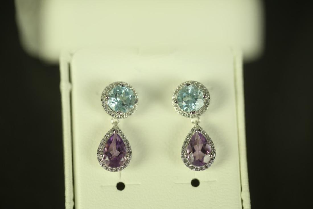 (78) 4.0 Ct. GEMSTONE EARRINGS