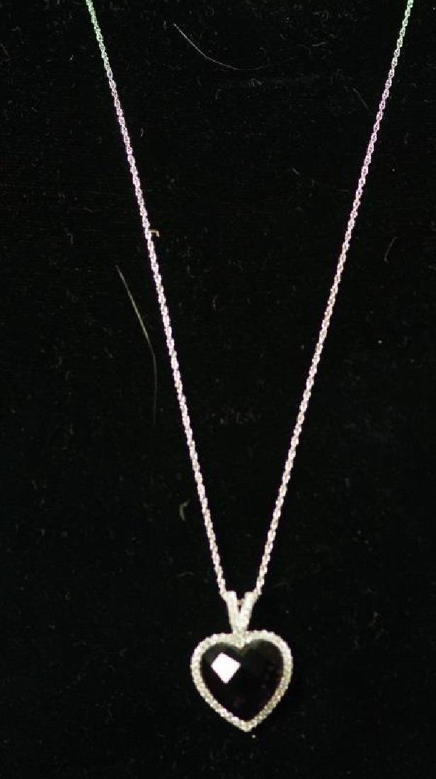 (80) 4.0 AMETHYST SWEETHEART NECKLACE