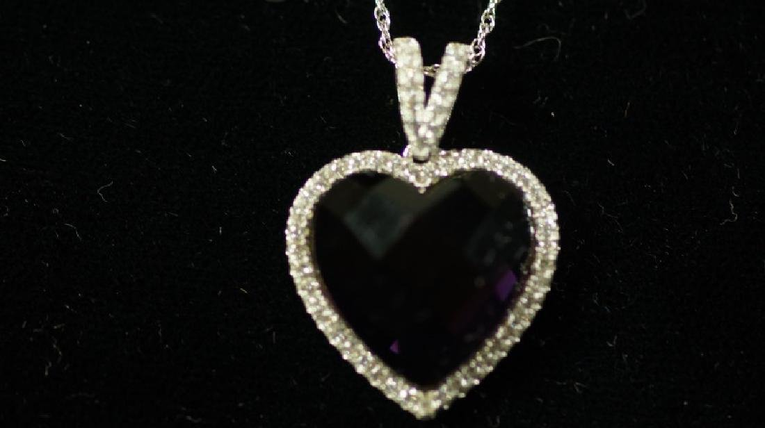 (80) 4.0 AMETHYST SWEETHEART NECKLACE - 2