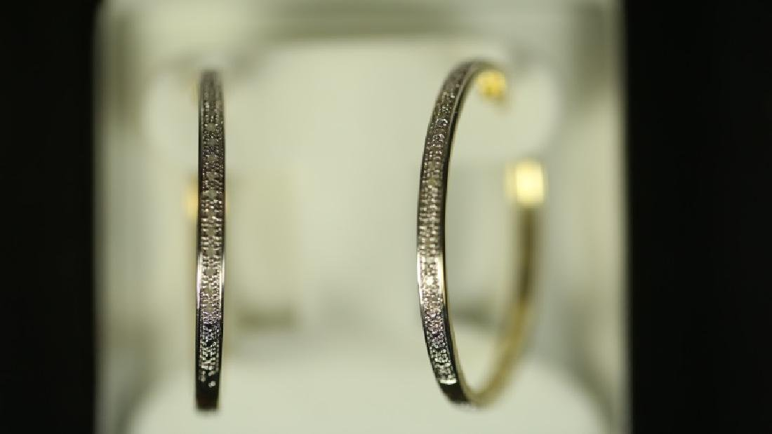 (81) DIAMOND HOOP EARRINGS