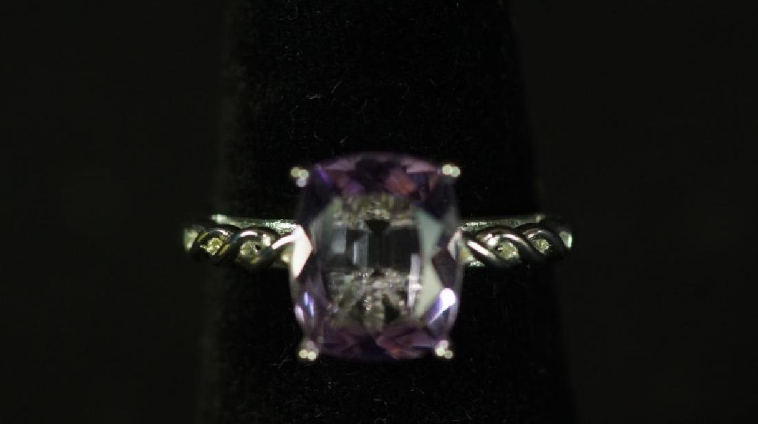 (87) 3.0 Ct. GENUINE AMETHYST DINNER RING