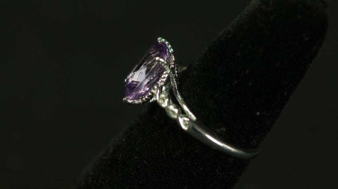 (87) 3.0 Ct. GENUINE AMETHYST DINNER RING - 2