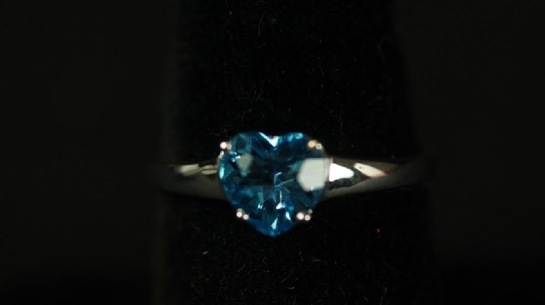 (91) BLUE TOPAZ SWEETHEART RING