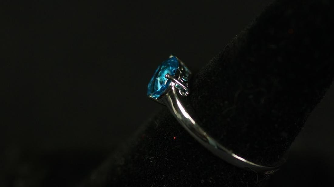 (91) BLUE TOPAZ SWEETHEART RING - 2