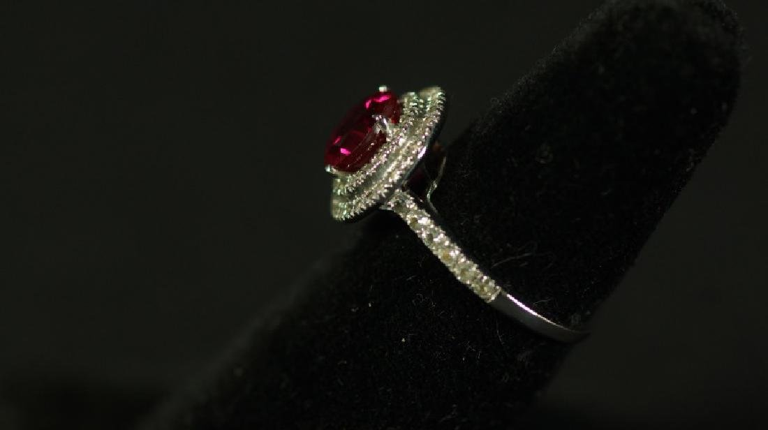 (96) 3.0 Ct. RUBY HALO RING