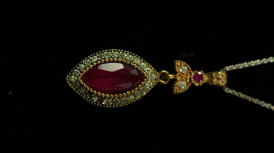 (116) RUBY ESTATE NECKLACE - 2