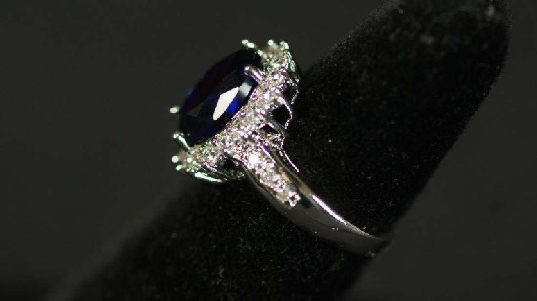 (122) OVAL CUT 5.0 Ct. SAPPHIRE ESTATE RING