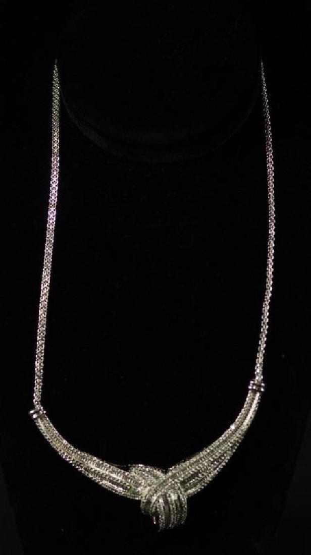 (125) LARGE DIAMOND ESTATE NECKLACE