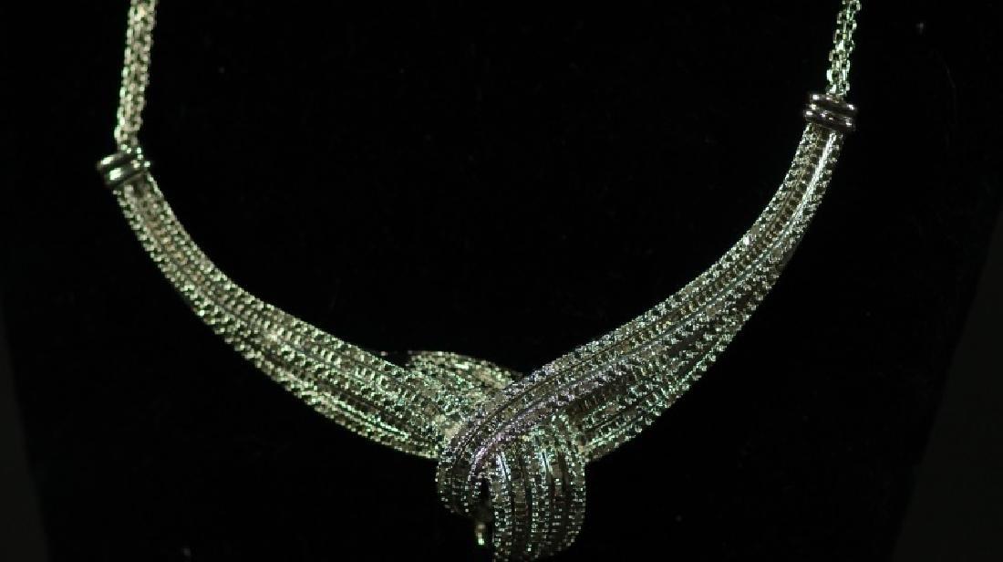 (125) LARGE DIAMOND ESTATE NECKLACE - 2