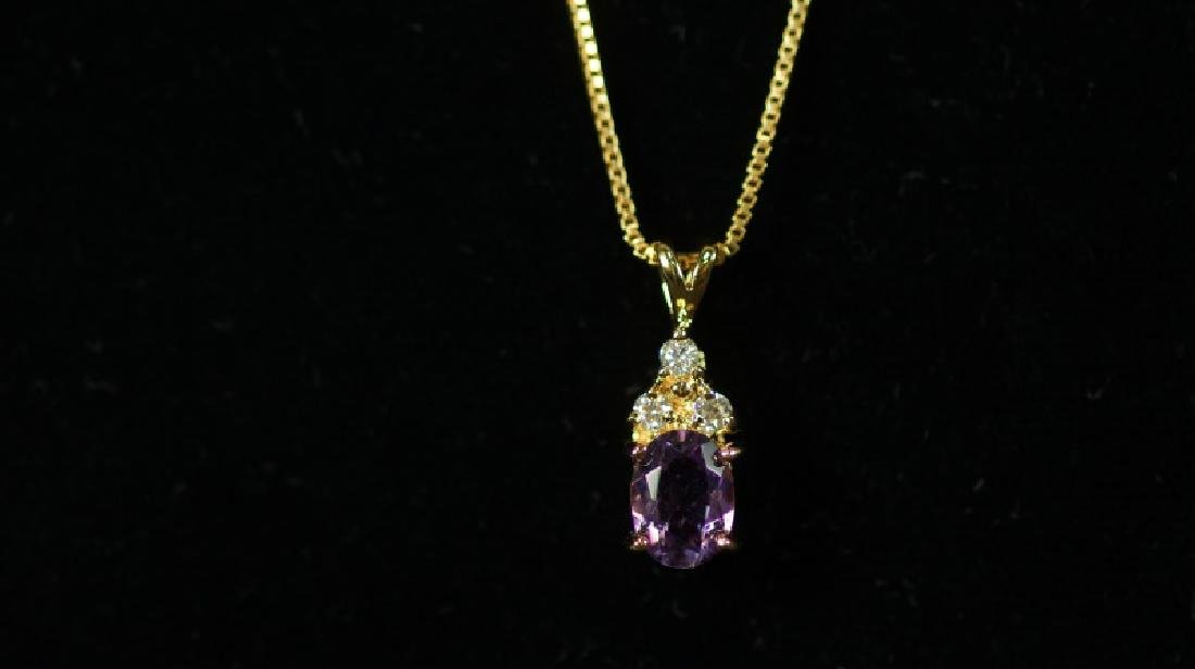 (131) AMETHYST EVENING NECKLACE - 2
