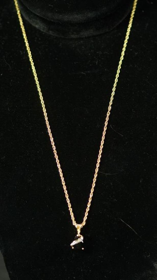 (133) ONYX & DIAMOND NECKLACE