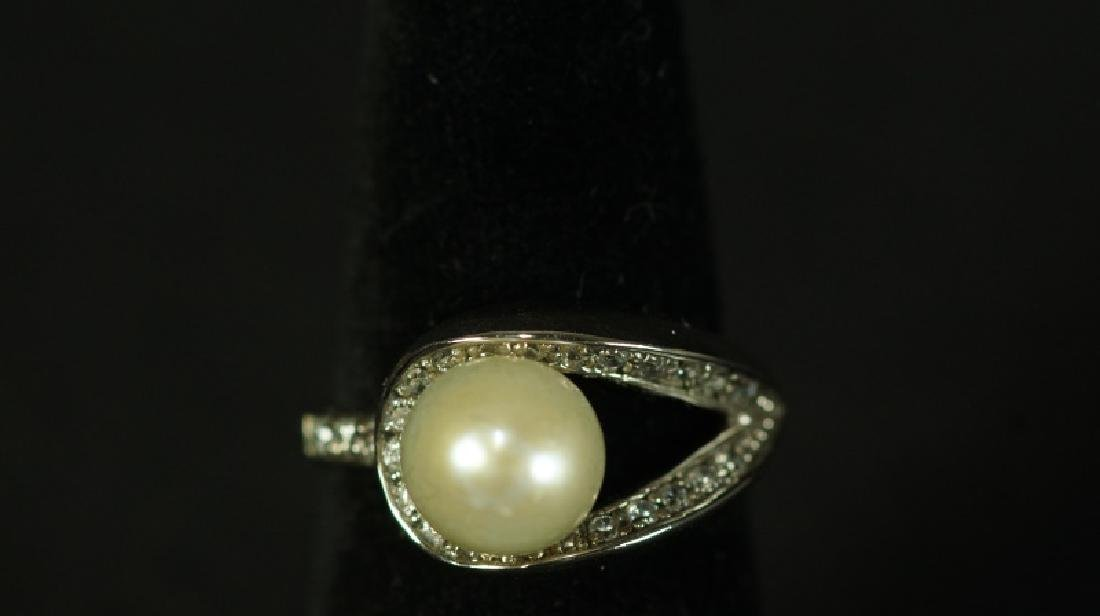 (140) MEDITERRANEAN PEARL ESTATE RING