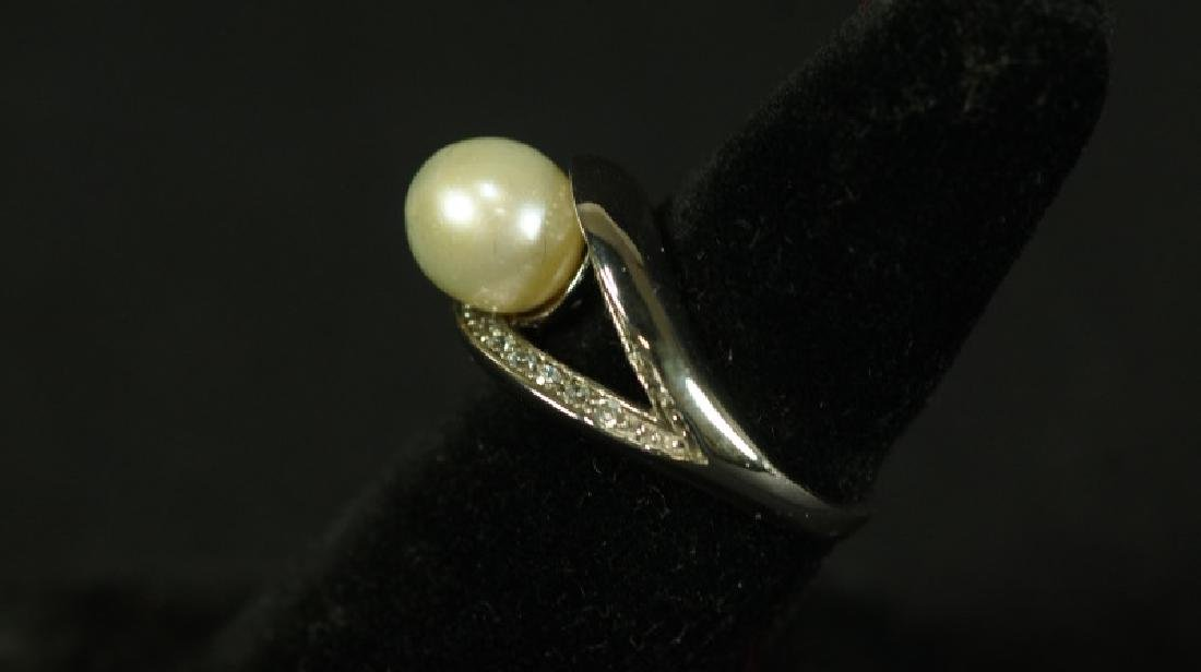 (140) MEDITERRANEAN PEARL ESTATE RING - 2