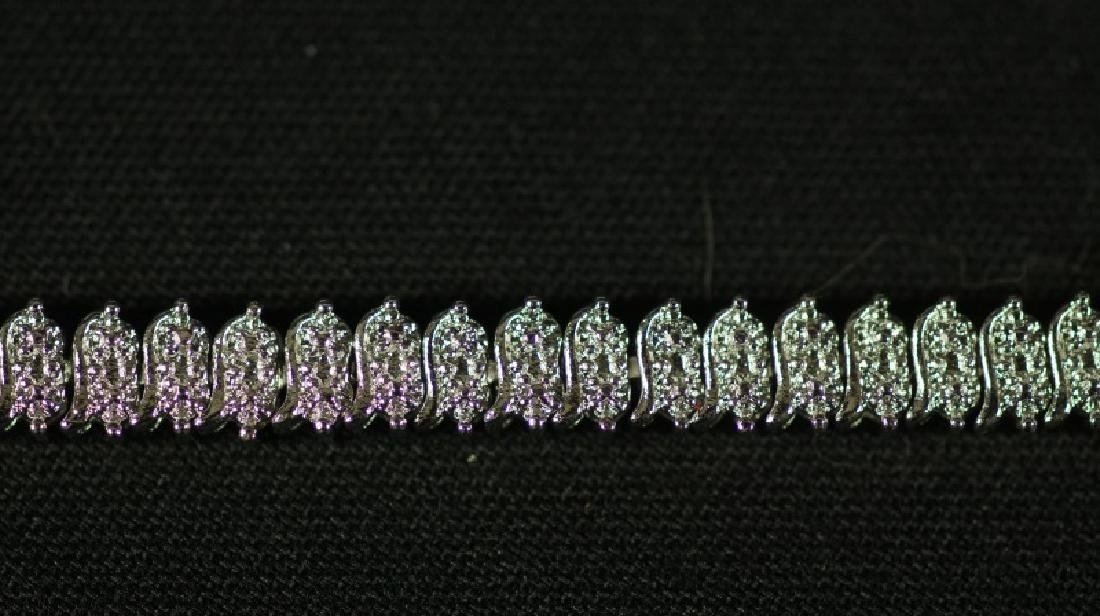 (141) DIAMOND TENNIS BRACELET - 2