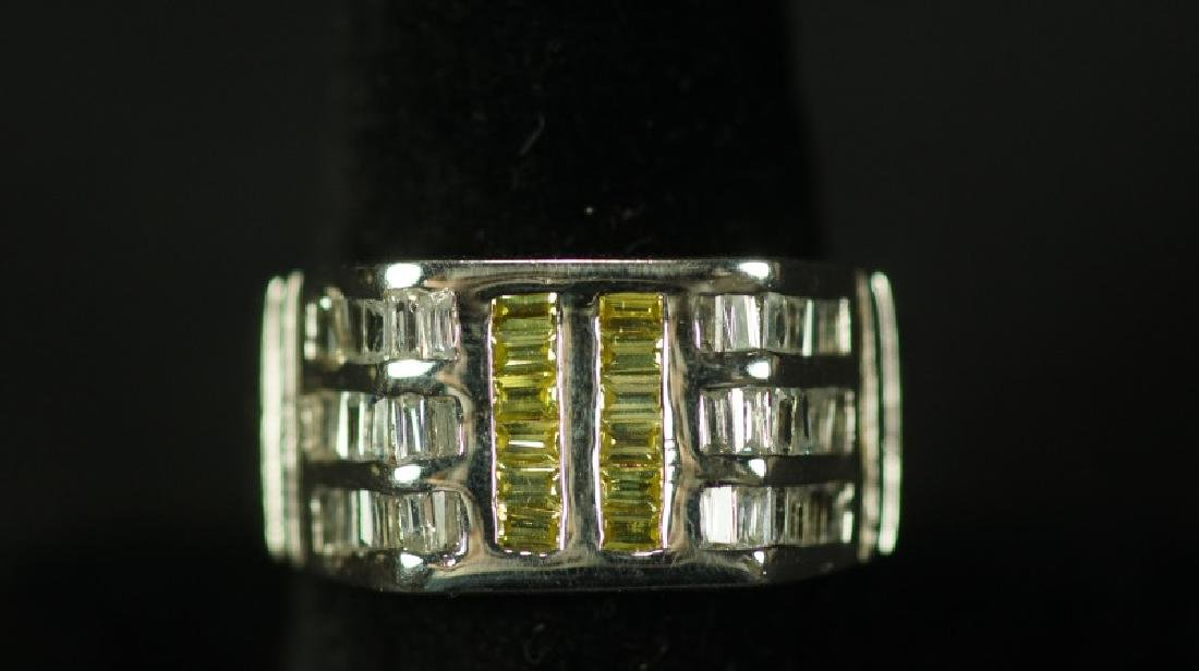 (143) CANARY YELLOW SAPPHIRE MENS RING