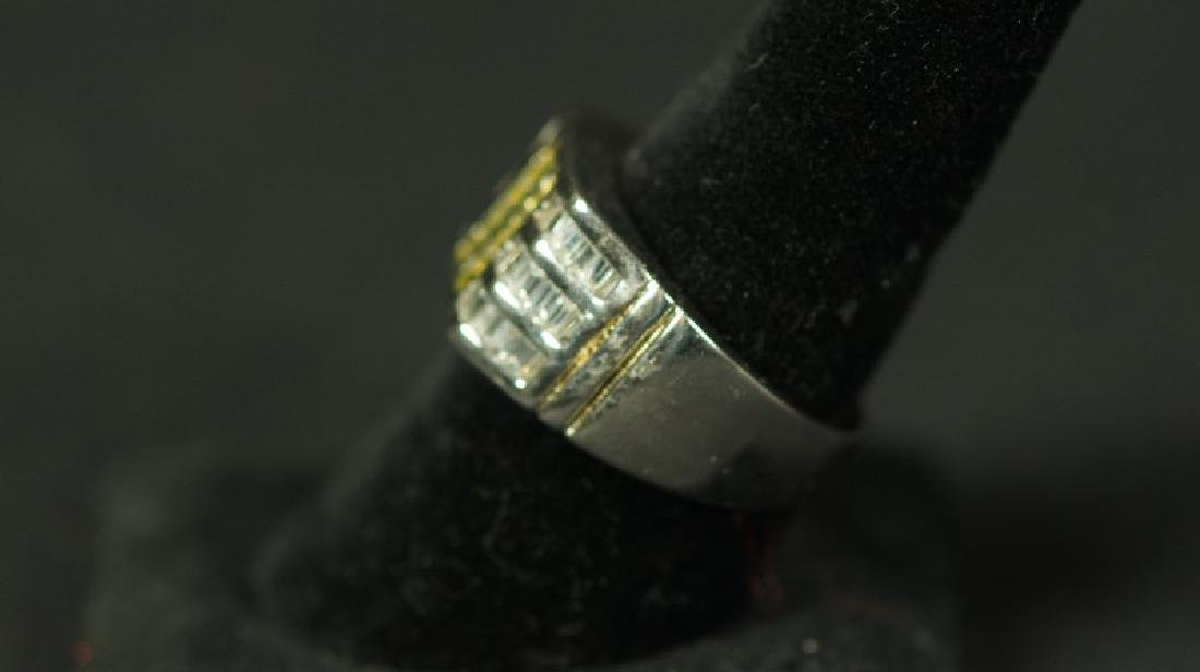 (143) CANARY YELLOW SAPPHIRE MENS RING - 2