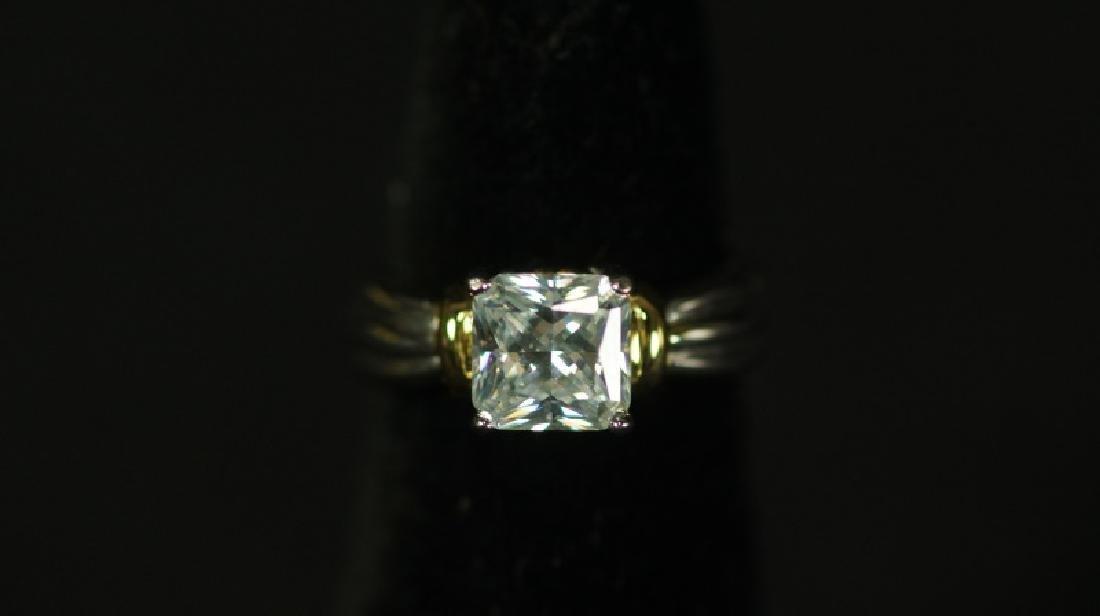 (145) NEAR FLAWLESS WHITE SAPPHIRE ESTATE RING