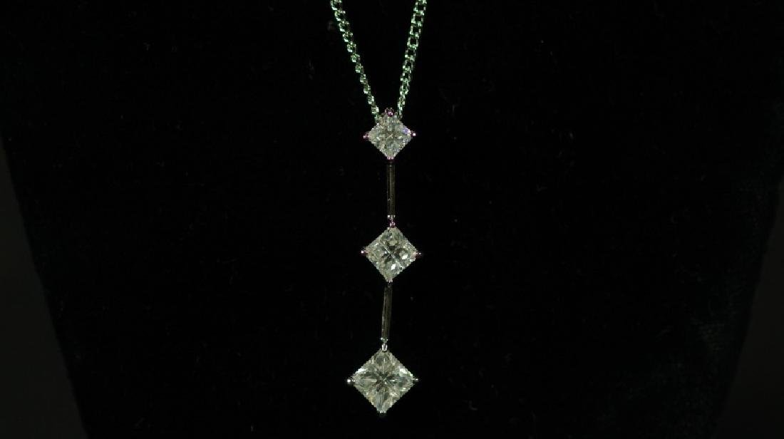 (146) 3.25 Ct. WHITE SAPPHIRE NECKLACE - 2