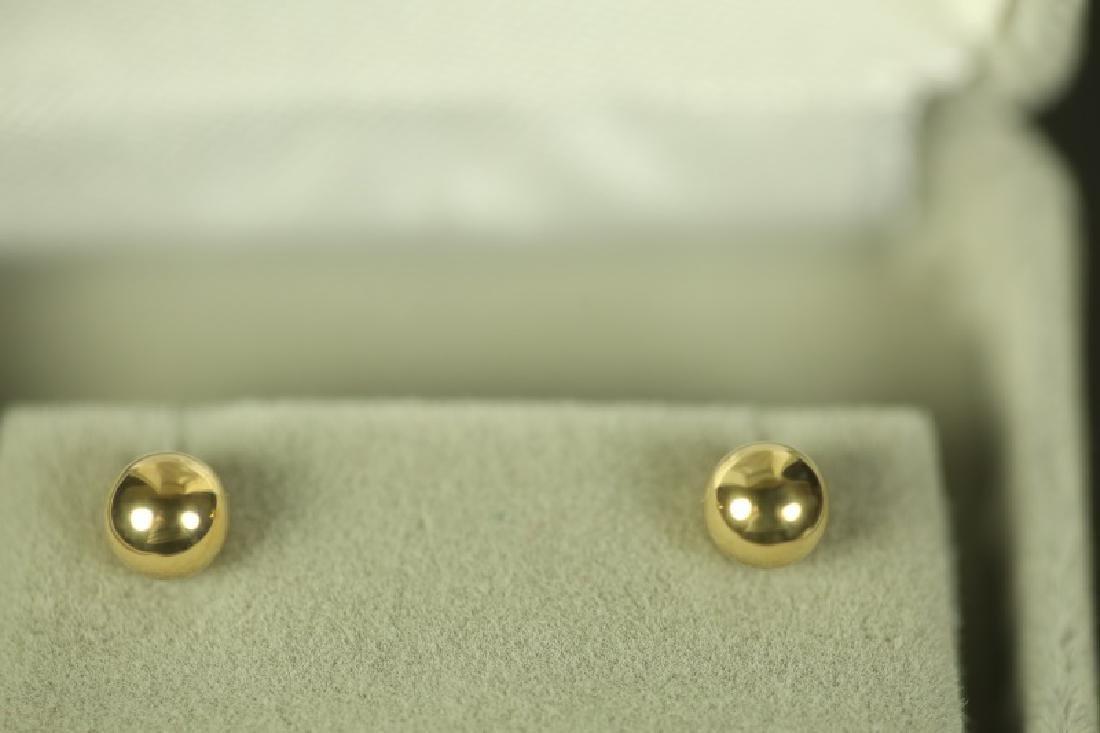 (150) 14 Kt. YELLOW GOLD STUD EARRINGS