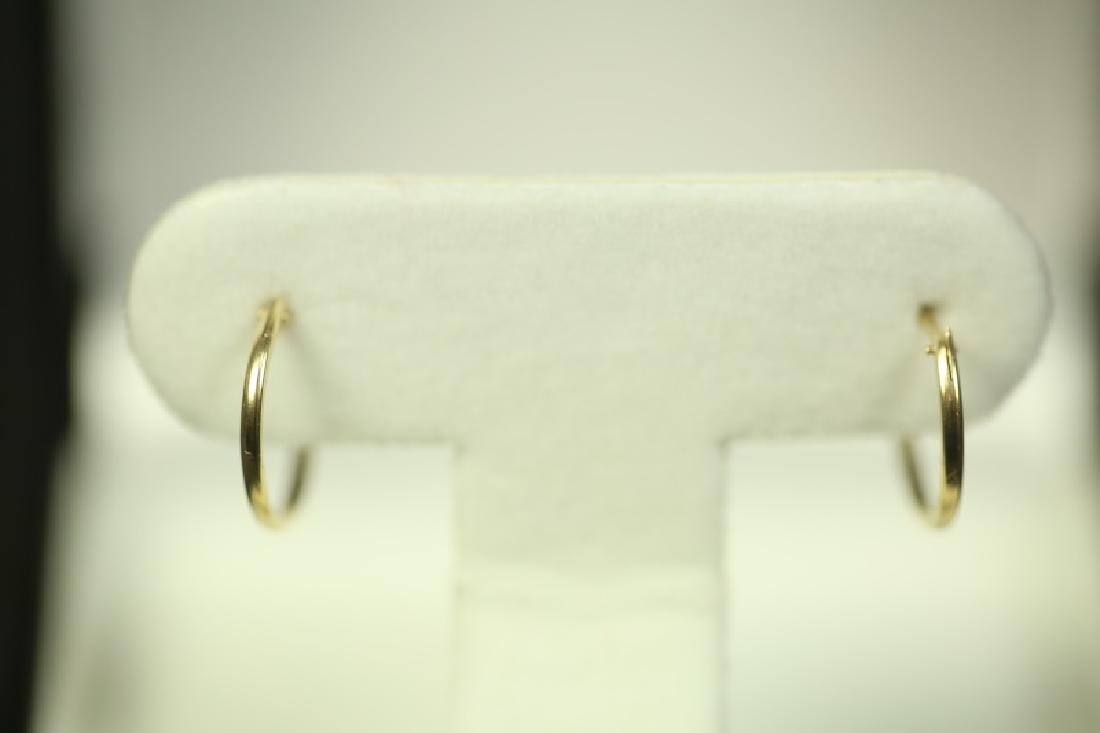 (175) 14 Kt. GOLD HOOP EARRINGS