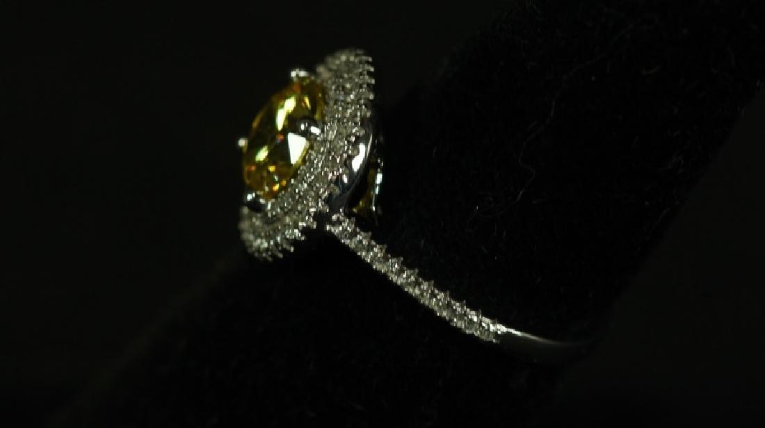 (185) ROUND CUT YELLOW SAPPHIRE RING - 2