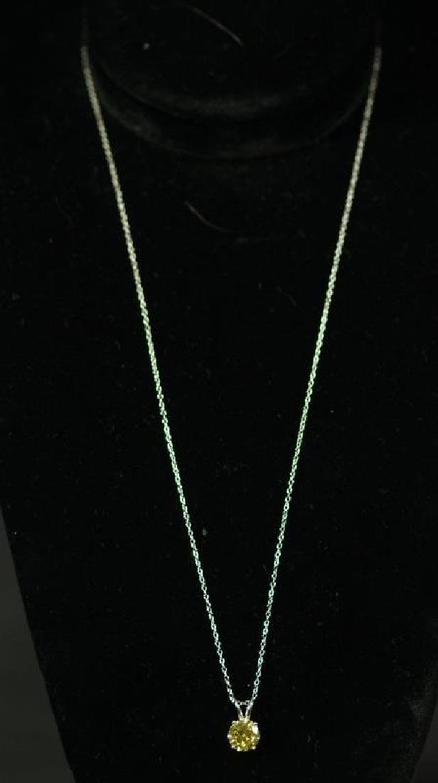 (186) ROUND CUT YELLOW SAPPHIRE NECKLACE