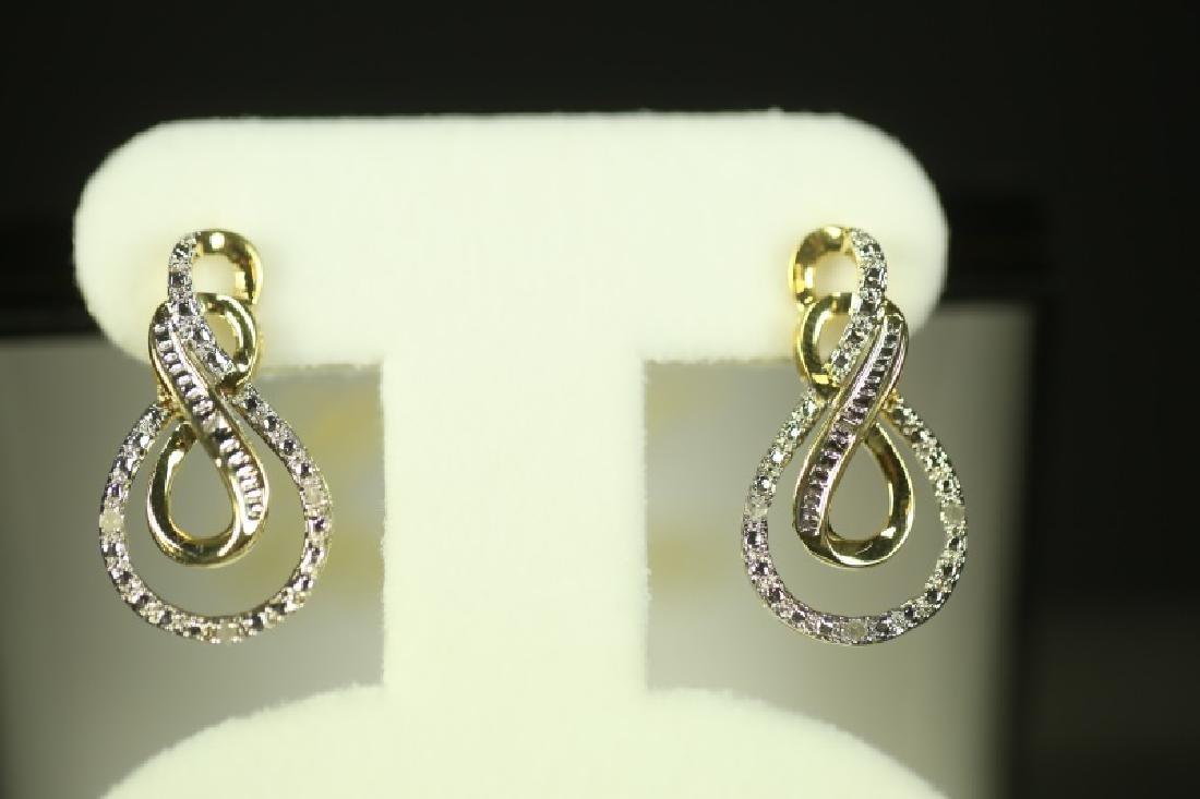 (192) DIAMOND ESTATE EARRINGS - 2